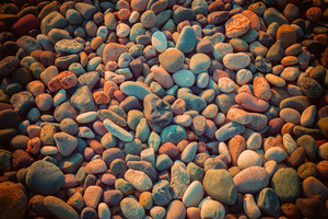 Vintage background from colorful pebbles