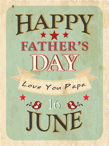 Vintage Background Of Happy Fathers Day