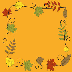 Vintage Background With Autumn Leaves And Space For Your Text