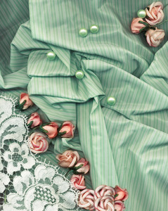 Vintage Background With Pink Flowers