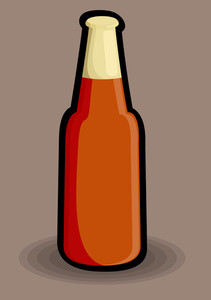 Vintage Beer Bottle Design