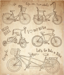 Vintage Bicycle Set
