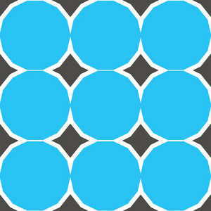 Vintage Blue Circles Pattern