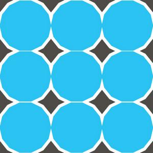 Vintage Blue Circles Pattern