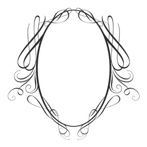 Vintage Calligraphic Frame Vector Illustration