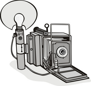 Vintage Camera Flash Bulb