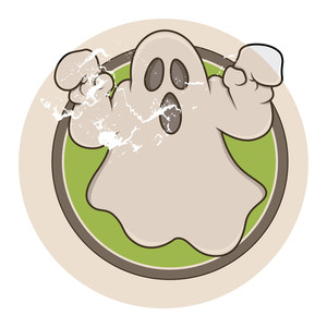 Vintage Cartoon Ghost Vector