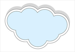 Vintage Cloud Sticker