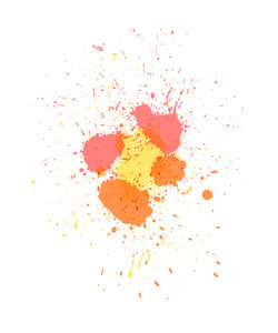 Vintage Colored Paint Drops