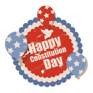 Vintage  Constitution Day Vector Illustration