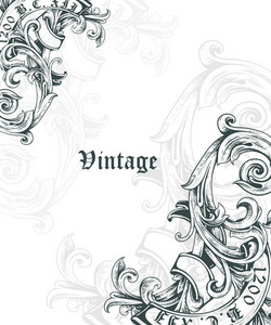 Vintage Corner Vector Illustation