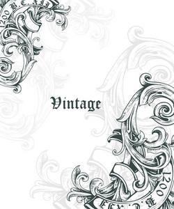 Vintage Corner Vector Illustation