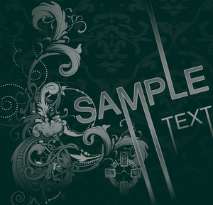 Vintage Damask Background Vector Illustration