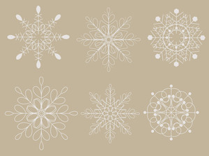 Vintage Decorative Snowflakes