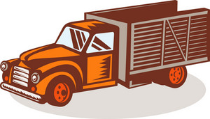Vintage Delivery Pick-up Truck