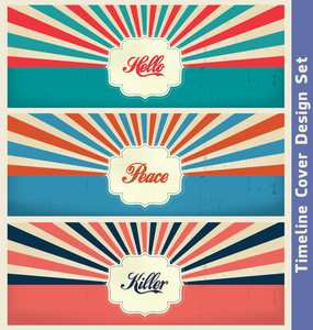 Vintage Design Template | Cover Design Template Set