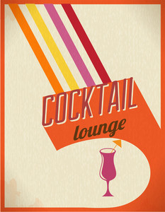 Vintage Drinks Poster (editable Text)