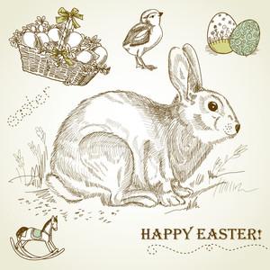 Vintage Easter Rabbit