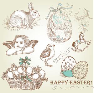 Vintage Easter Set