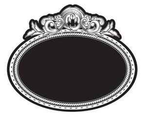 Vintage Engraved Floral Frame  Vector Illustration