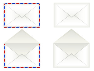 Vintage Envelopes Vectors