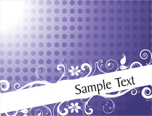Vintage Floral Background For Sample Text In Gradient Purple