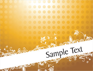 Vintage Floral Background For Sample Text In Gradient Yellow