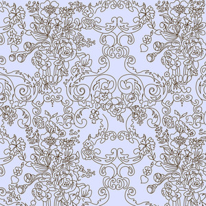Vintage Floral Background. Vector Illustration.-
