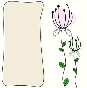 Vintage Floral Banner Design