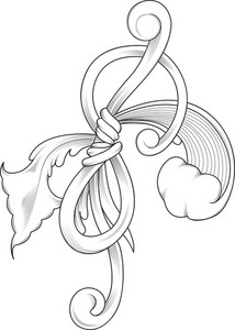 Vintage Floral Vector Element