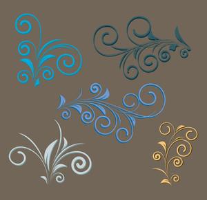 Vintage Florals Design Elements