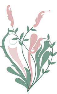 Vintage Flourish Element Art