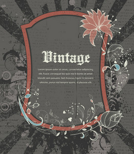 Vintage Frame Vector Illustration