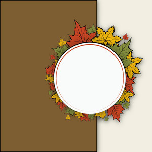 Vintage Frame With Autumn Leaves And Space