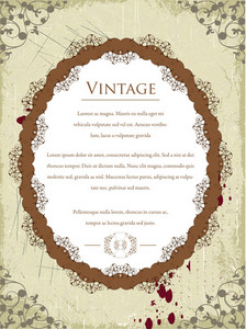 Vintage Frame With Floral Vector Illustration