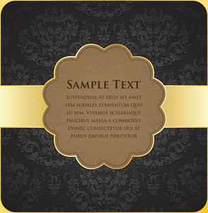 Vintage Gold Label Vector Illustration