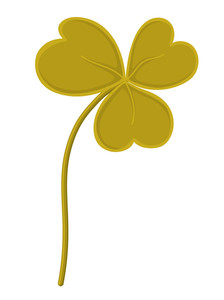 Vintage Green Shamrock Vector