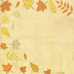Vintage Grungy Background With Maple Leaves