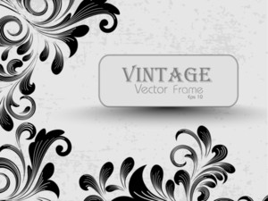 Vintage Illustration With Creative Floral Decoration. Vector.