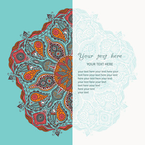 Vintage Invitation Card. Template Frame Design For Card. Vintage Lace Doily.can Be Used For Packaging
