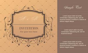 Vintage Invitation Card Vector Illustration