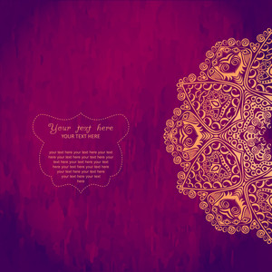 Vintage Invitation Card With Lace Ornament. Template Frame Design For Card. Vintage Lace Doily.can Be Used For Packaging
