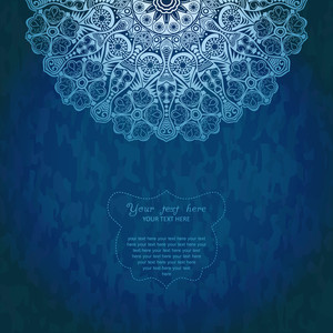 Vintage Invitation Decoration On Grunge Background With Lace Ornament. Template Jewelry Detailed Lace Design In Winter Theme. Doily.can Be Used For Packaging