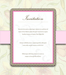 Vintage Invitation Vector Illustration