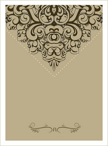 Vintage Invitation Vector Illustration
