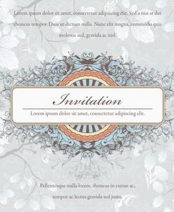 Vintage Invitation Vector Ilustration