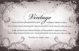 Vintage Invitation With Floral Vector Illustration