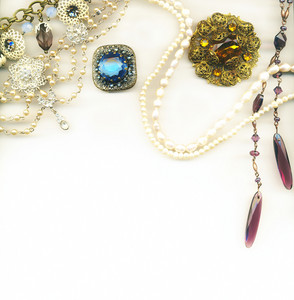 Vintage Jewellery Border