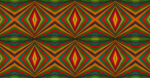 Vintage Kaleidoscope Abstract Graphic