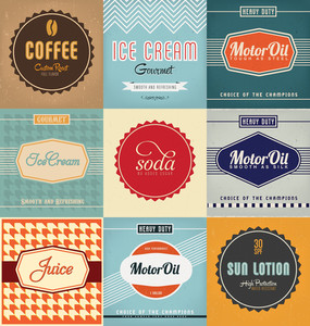 Vintage Label-Design-Set